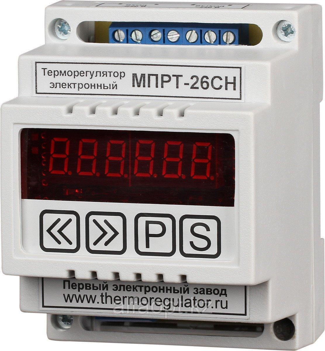 Терморегулятор МПРТ-26СН 1 кВт с датчиками KTY-81-110 цифровое управление DIN