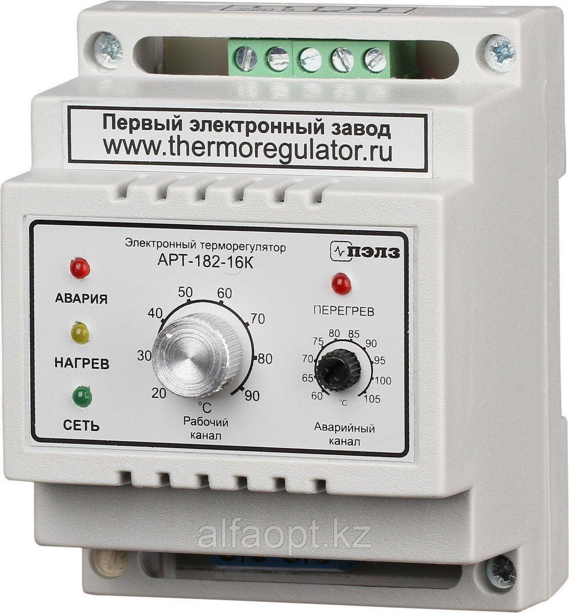 Терморегулятор АРТ-182-16 с датчиками KTY-81-110 3 кВт DIN