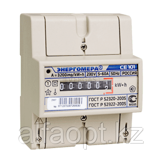 Счетчик электроэнергии однофазный однотарифный Энергомера CE200 R5 145 М6