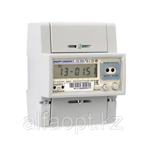 Счетчик электроэнергии однофазный многотарифный Энергомера CE208 R5.845.1.OP.Q PL04 IEC