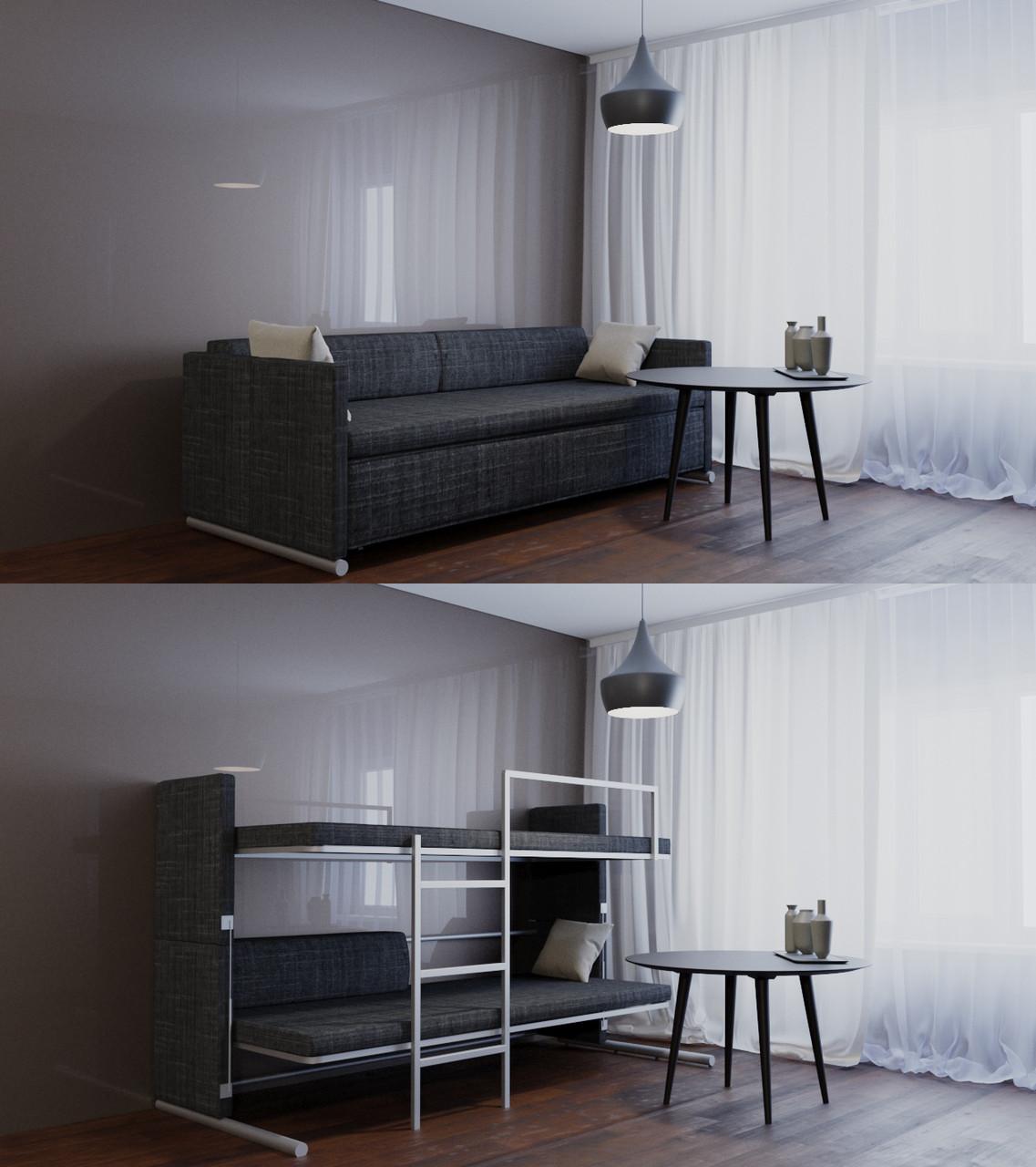"Трансформер Диван-двухъярусный кровать ""Twin twist"" Oslo black"