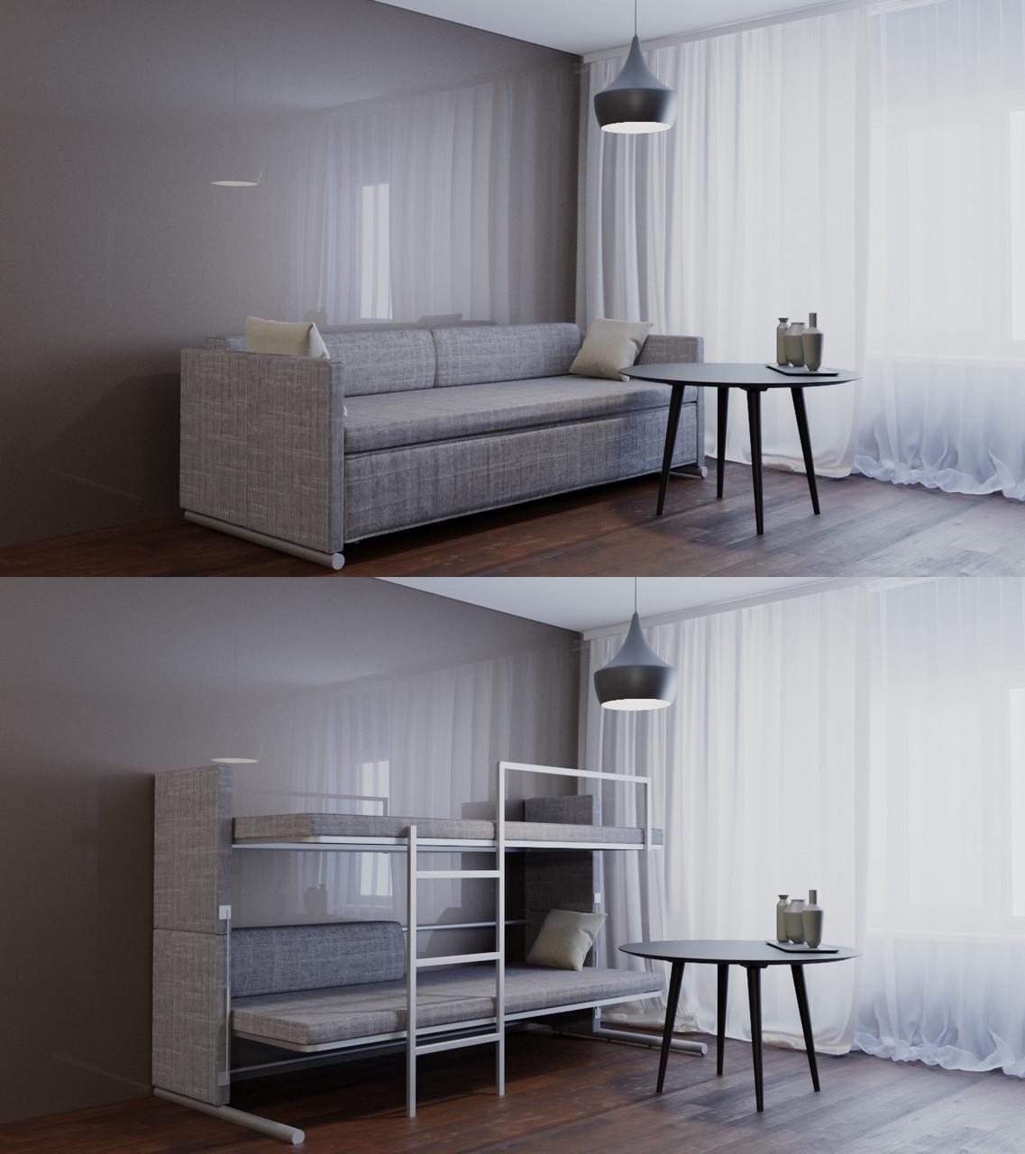 "Трансформер Диван-двухъярусный кровать ""Twin twist"" Oslo gray"