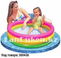 """Детский бассейн с надувным дном """"РАДУГА"""" (86* 25 см) 58924"""