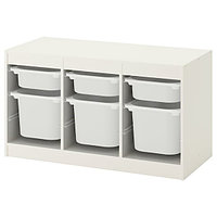 Стеллаж для игрушек ТРУФАСТ белый 99x44x56 см ИКЕА, IKEA, фото 1