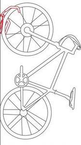 Крепление велосипеда на стену RODA (за перед.колесо)