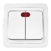 Выключатель ПРОГРЕСС SLIM су 2кл сп белый