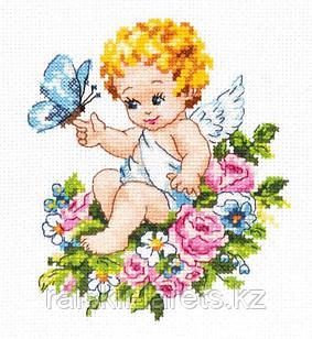 """Набор для вышивания крестом Чудесная игла """"Ангел нашей любви"""" 35-19"""