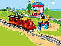 LEGO DUPLO 10874 Поезд на паровой тяге, свет и звук, конструктор ЛЕГО