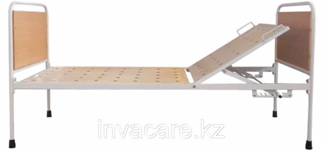 Кровать медицинская с регулируемой по углу наклона головной секцией стационарная КМОс-02(без колес,спинки со