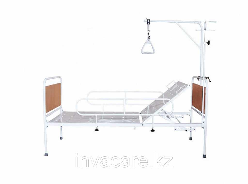 Кровать медицинская функциональная с регулируемой по углу наклона головной секцией КМФ-01(без колес, спинки