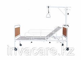Кровать медицинская функциональная с регулируемой по углу наклона головной секцией, КМФ-01(колесах d.125,со