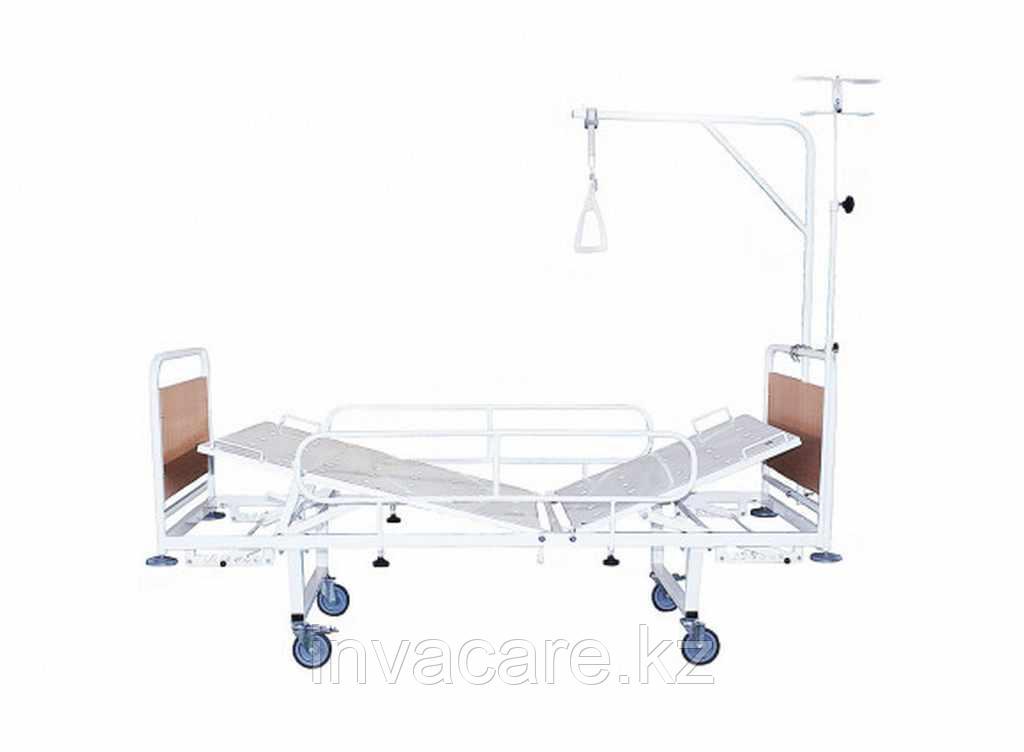 Кровать медицинская функциональная двухсекционная КМФ2-01 с механическим регулированием углов наклона