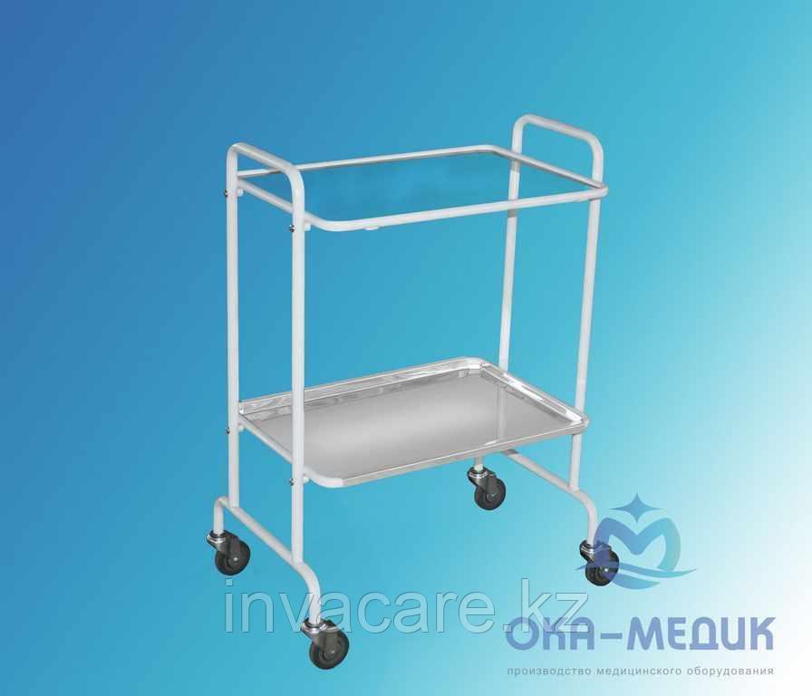 Столик мед. инструментальный СМи-5-«Ока-Медик»из нержавеющей стали (стекло/нержавейка)