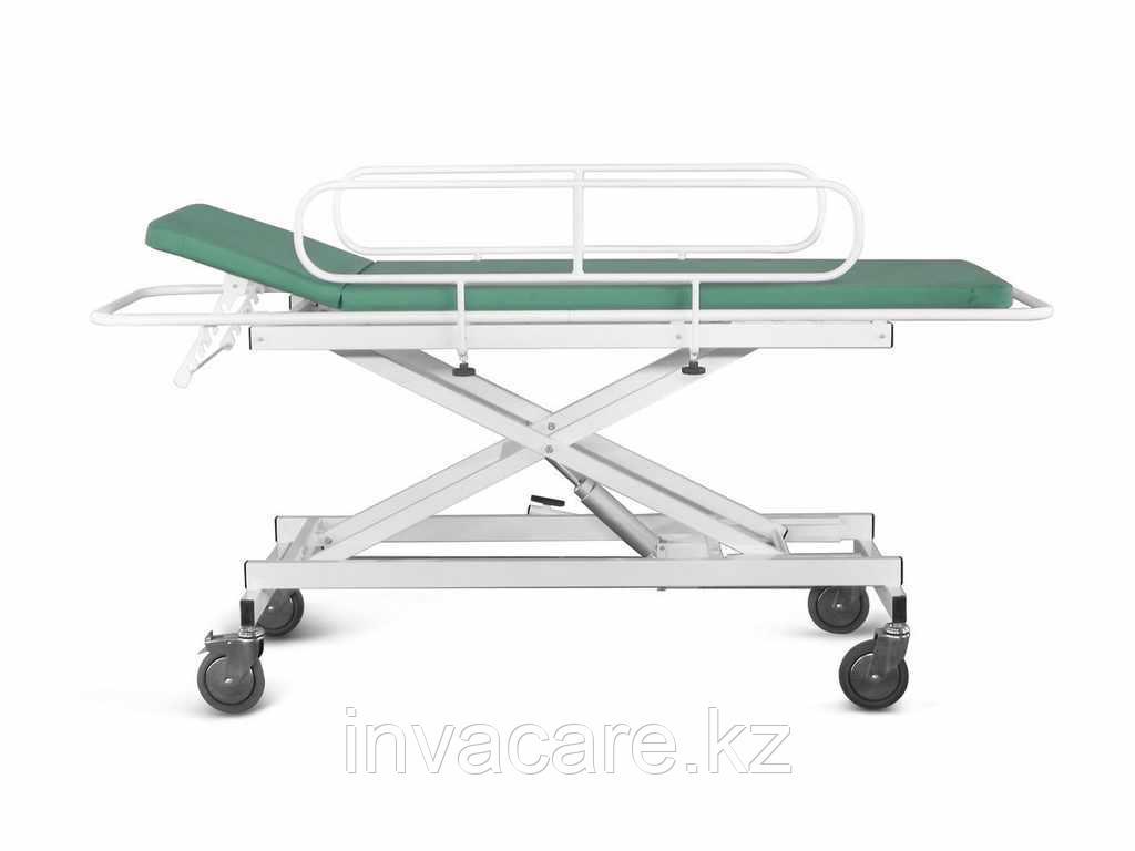 Тележка для перевозки больных ТМПБ-В02(внутрикорпусная, изменение высоты ложа при помощи гидропривода, колеса