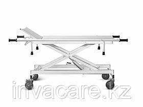 Тележка для перевозки больных ТМПБ-В03(внутрикорпусная, боковые ограждения, изменение высоты ложа при помощи