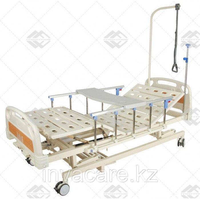 Кровать механическая E-31 (ММ-3014Н-00) (3 функц) с растоматом и полкой
