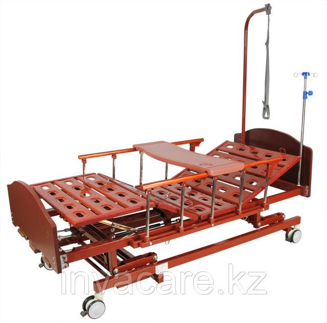 Кровать механическая E-31 (ММ-3024Н-00) (3 функц) с ростоматом и полкой
