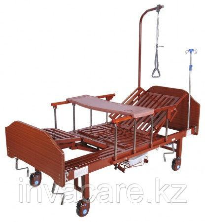 Кровать механическая YG-5 (ММ-5124Н-01) ЛДСП с боковым переворачиванием, туалетным устройством и функ