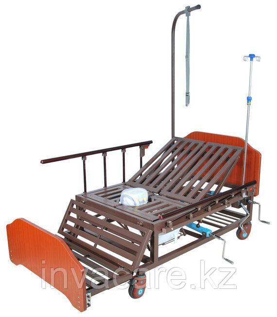 Кровать механическая Е-45А(ММ-5424Н-01) с боковым переворачиванием, туалетным устройством