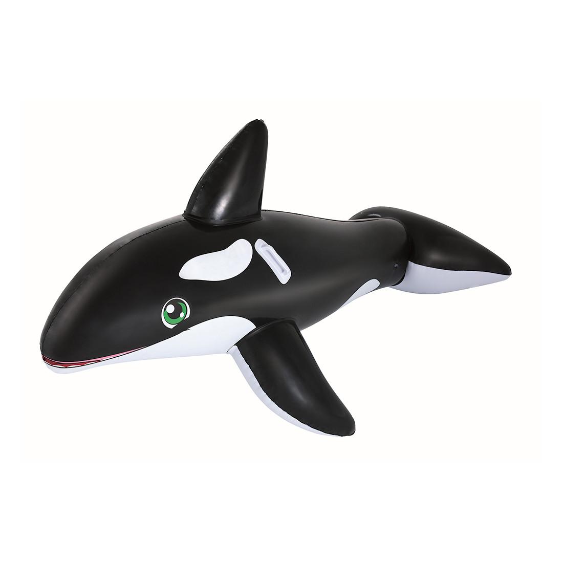 Надувная игрушка для катания верхом Касатка BESTWAY 41009 (203х102см, Black-White)