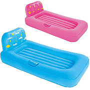 Детская надувная кровать Dream Glimmers Comfort Airbed 132х76х46 см со светильником 67496 BW