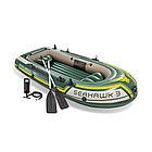 Лодка надувная INTEX Seahawk 3 Set 12+ 68380NP (295х137см, Винил, Трёхкамерная)