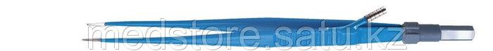 Биполярный пинцет с ирригацией прямой, длина 180 мм, 8 х 0,5 мм.