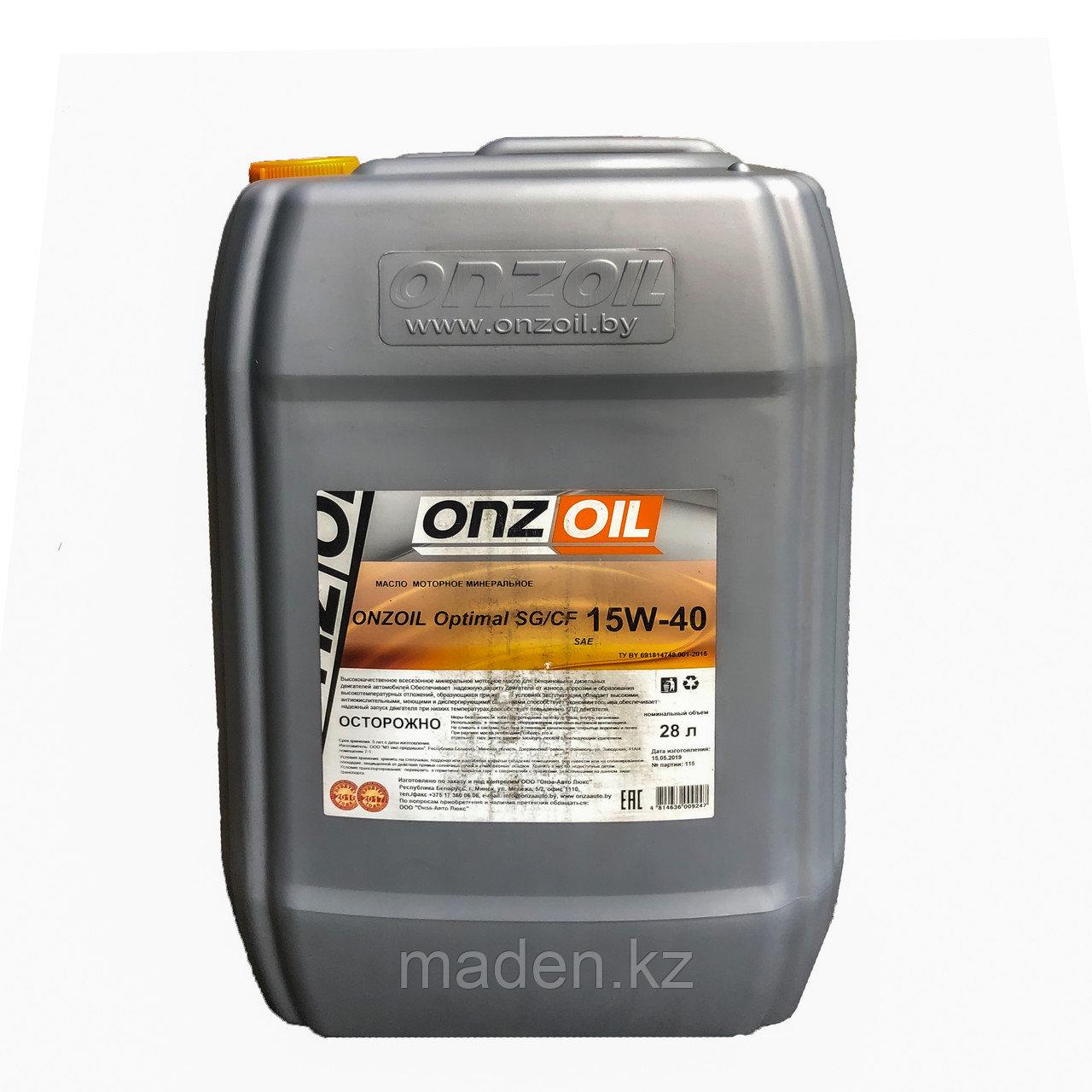 Моторное масло ONZOIL 15W40 SG/CF 28.0