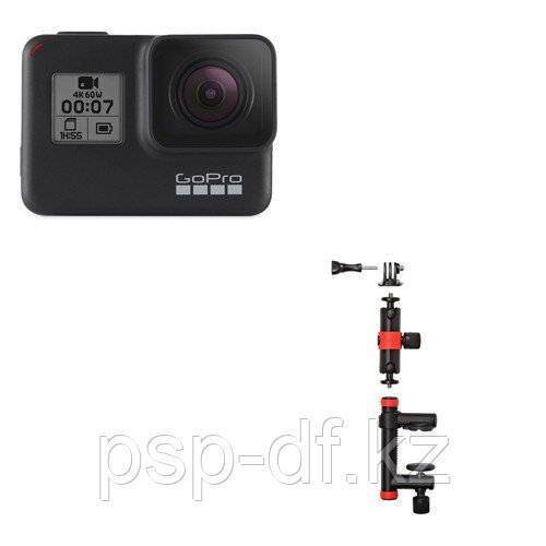 Экшн камера GoPro HERO7 Black + Держатель-струбцина Joby Action Clamp & Locking Arm