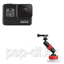Экшн камера GoPro HERO7 Black + Держатель на присоске Joby Suction Cup & Locking Arm