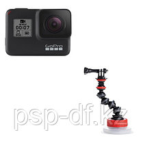 Экшн камера GoPro HERO7 Black + Держатель на присоске Joby Suction Cup