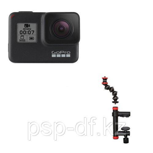Экшн камера GoPro HERO7 Black + Держатель-струбцина Joby