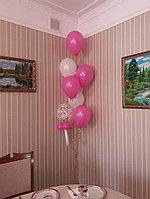 Фонтан из шаров на выписку из роддома в комнату для девочки