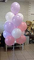 Гелиевые шары на выписку из роддома на рождение дочки 15 штук