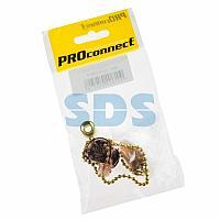 Выключатель для настенного светильника c деревянным наконечником «Gold» индивидуальная упаковка 1 шт.