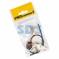 Выключатель для настенного светильника c проводом и деревянным наконечником «Gold» индивидуальная упаковка 1