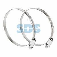 Хомут-стяжка кабельная стальная червячная REXANT 70-90 мм,  упаковка 25 шт.