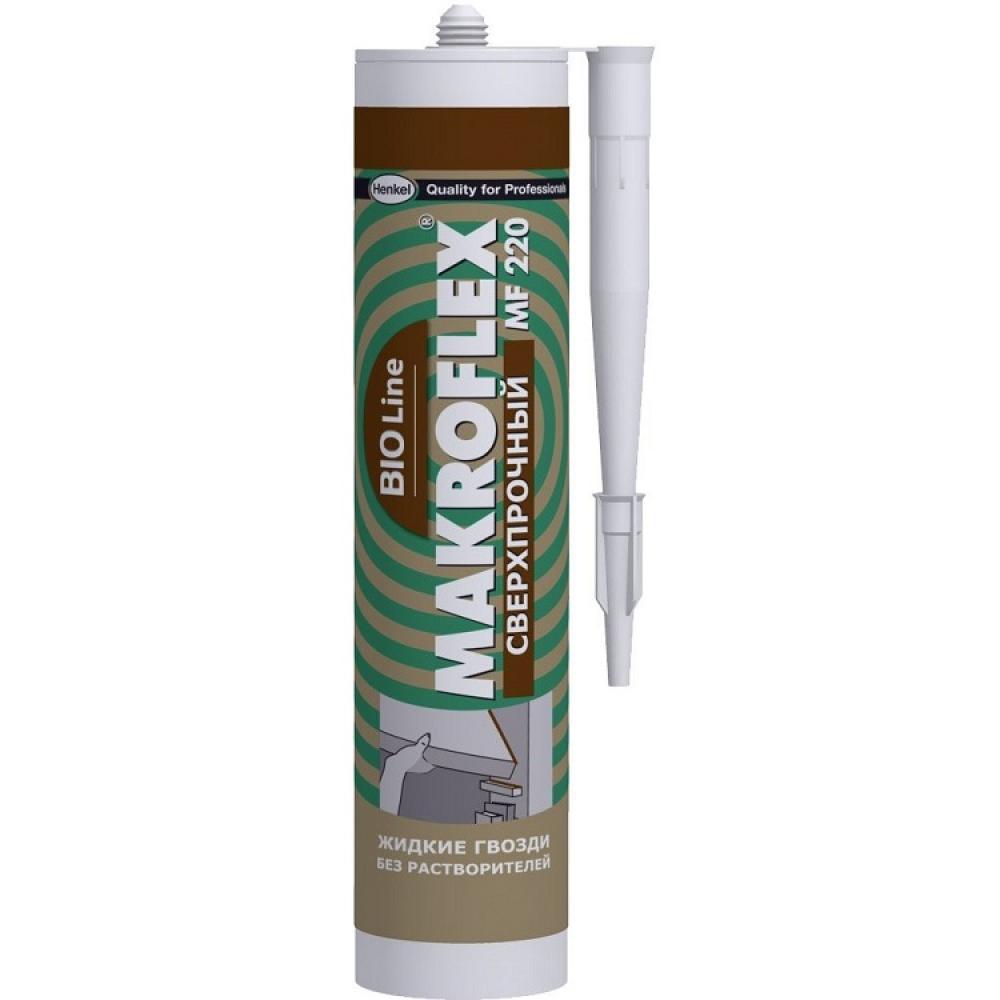 """MAKROFLEX Bio Line MF220 """"Ультрастойкий"""" монтажный клей, цвет - белый 400 г"""
