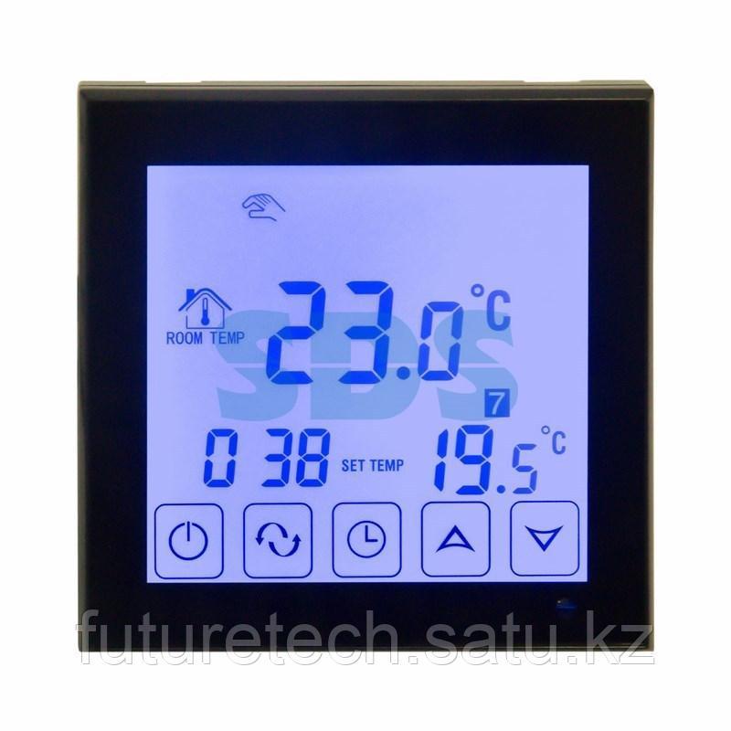Терморегулятор сенсорный с автоматическим программированием REXANT, R200B, черный - фото 1