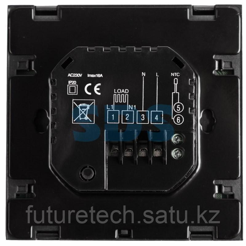 Терморегулятор сенсорный с автоматическим программированием REXANT, R200B, черный - фото 4