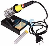 Набор для пайки REXANT №4 (паяльник 30 Вт, оловоотсос, подставка, припой, губка)