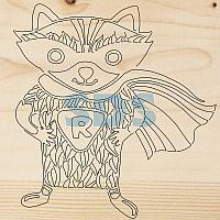 Доска для выжигания 1 шт. «Супергерой Енот»