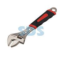 Разводной ключ REXANT 200 мм никелированный,  двухкомпонентная рукоятка
