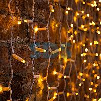 """Гирлянда """"Светодиодный Дождь"""" 2х1,5м,  постоянное свечение,  белый провод,  230 В,  диоды ЖЁЛТЫЕ,  360 LED"""