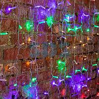 """Гирлянда """"Светодиодный Дождь"""" 2х1,5м, постоянное свечение, прозрачный провод, 230 В, диоды МУЛЬТИ, 192"""