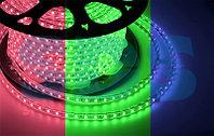 LED лента 220 В, 10х7 мм, IP67, SMD 2835, 60 LED/m, цвет свечения RGYB (мульти), бухта 100 м