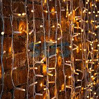 """Гирлянда """"Светодиодный Дождь"""" 2х1,5м, постоянное свечение, белый провод """"КАУЧУК"""", 230 В, диоды ТЕПЛЫЙ"""