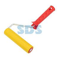 Валик для прикатки обоев резиновый,  ширина ролика 150 мм,  ручка 6 мм REXANT