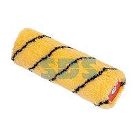 Ролик (сменный) полиакрил желтый с черной полосой,  ворс 11 мм,  ширина ролика 180 мм,  Ø 42 мм,  бюгель 6 мм REXANT