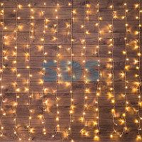 """Гирлянда """"Светодиодный Дождь"""" 2,5x2 м,  свечение с динамикой,  прозрачный провод,  230 В,  диоды ТЕПЛЫЙ БЕЛЫЙ"""